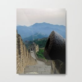 Cannon at the Great Wall of China Metal Print