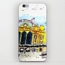 Urban Sketch Union Station iPhone Skin