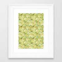 kiwi Framed Art Prints featuring kiwi by kociara