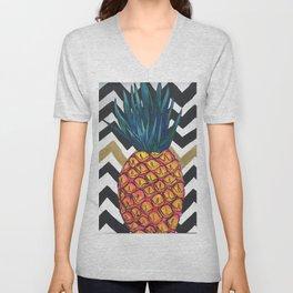 Pineapple Chevron Unisex V-Neck