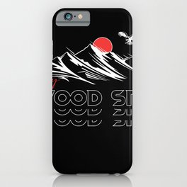 The sky of the Glenwood Springs retro Vintage funny Eagles iPhone Case