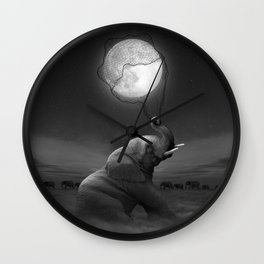 Bringing Light to the Darkness Wall Clock