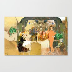 the chance meeting of a Santiago Rusiñol and a Santiago Rusiñol  Canvas Print