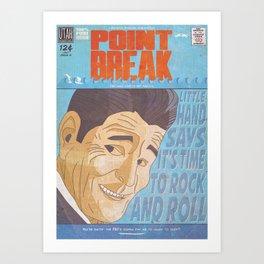 Point Break Comic Style Print Art Print
