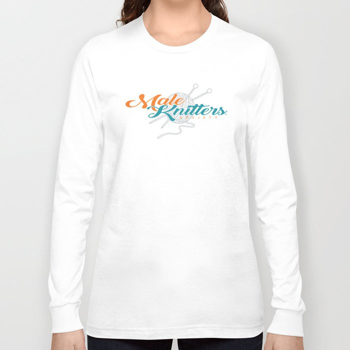 """Male Knitters Society """"NFL EDITION"""" Dolphins Long Sleeve T-shirt"""
