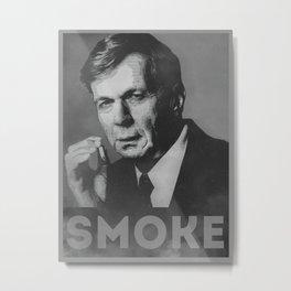 Smoke! Funny Obama Hope Parody (Smoking Man)  Metal Print