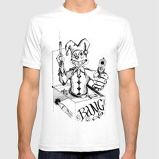 Jack (Gunslinger in a Box) SMALL White Mens Fitted Tee