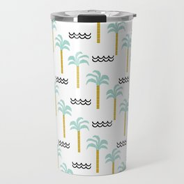 Palm Tree tropical island vacation wave water socal hawaii beach life salt life chilled out vibe Travel Mug