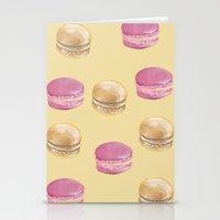 macaron Stationery Cards featuring Macaron, Macaron by Malina Syvo