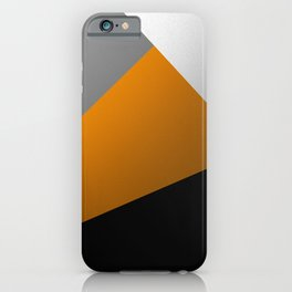 Metallic I - Abstract, geometric, metallic textured gold, silver and black metal effect artwork iPhone Case