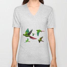 Slender-billed Parakeet (Enicognathus leptorhynchus) Unisex V-Neck