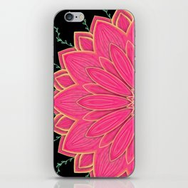 Project 520 | Pink Flowers on Black iPhone Skin
