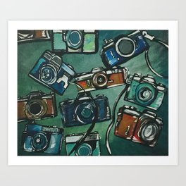 Cameras 2 Art Print