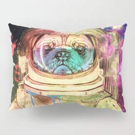 Astronaut Pug COLOR Pillow Sham