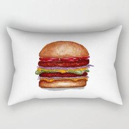 Burger watercolor Rectangular Pillow