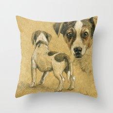 Jack Russel terrier SK080 Throw Pillow