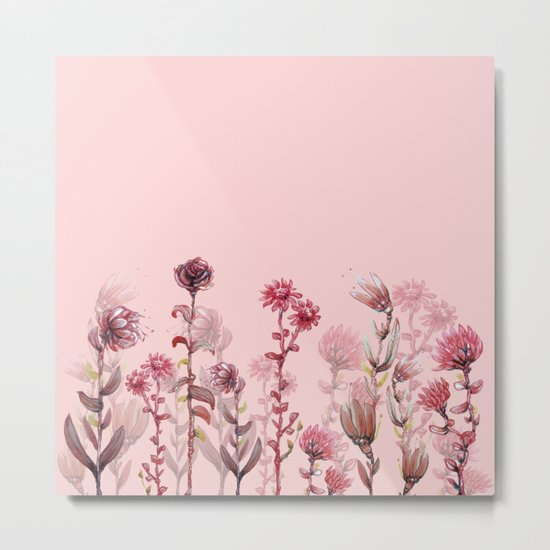 For Her ! Pink Flowers Metal Print