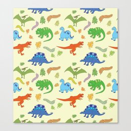 Dinosaur Pattern Canvas Print