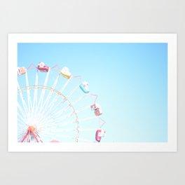 Fryeburg Fair Ferris Wheel Art Print