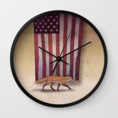the Fox & the Flag Wall Clock
