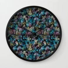 Crystal Points  Wall Clock