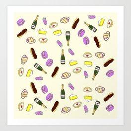 Sweets & Champagne Art Print