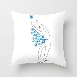 Full of butterflies Throw Pillow