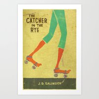 catcher in the rye Art Prints featuring the catcher in the rye by randy mckee
