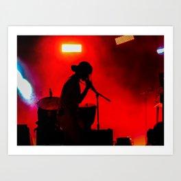 Rock Concert Silhouette Art Print