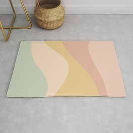 Abstract Color Waves - Neutral Pastel Rug