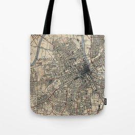 Vintage Map of Nashville Tennessee (1929) Tote Bag