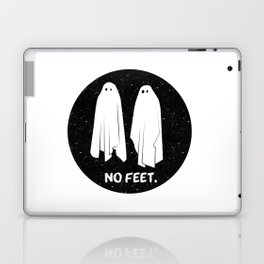 No Feet Ghosts Black and White Graphic Laptop & iPad Skin