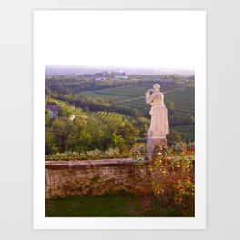Italy In A View:I Can't See You, But I Know You're There Art Print