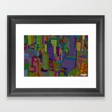 Cityscape night Framed Art Print