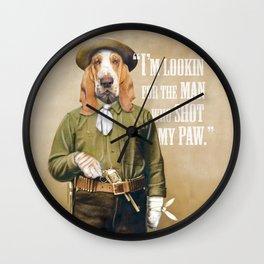 Basset Hound Cowboy Wall Clock