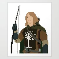 gondor Art Prints featuring Fara-Bit Captain of Gondor by SamuelJay