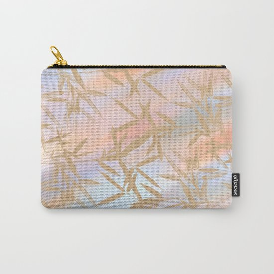 Floating Golden Leaves Abstract Carry-All Pouch