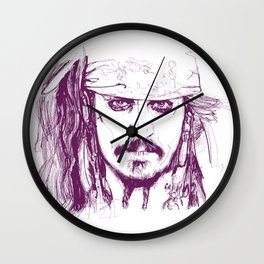 Captain Jack - Pirates of the Caribbean Wall Clock