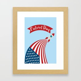 Patriot Day - September 11 - Send the best Wish to those who suffered Framed Art Print