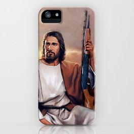 Shotgun Christ The Messiah iPhone Case