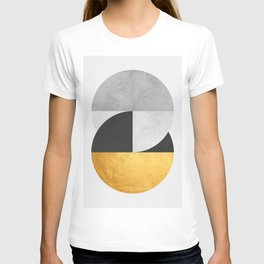 Golden Geometric Art IX T-shirt