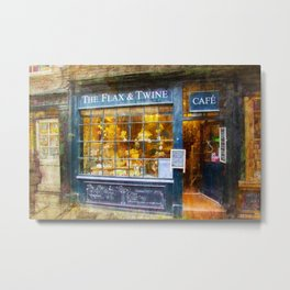 The Flax and Twine Metal Print