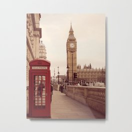 London Booth Metal Print