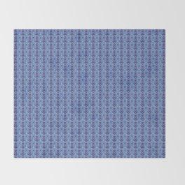 Ikat Purple Throw Blanket