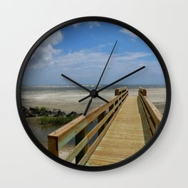Welcome To The Beach Wall Clock