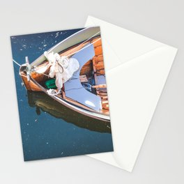 Nautical Fine Art Photography Boat in Water Stationery Cards
