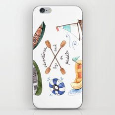Adventures by Sail or Paddle iPhone Skin