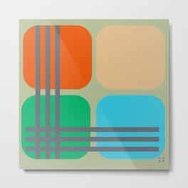 Color Cubes Metal Print