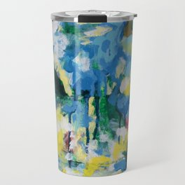 Tempest, oil on wood painting Travel Mug