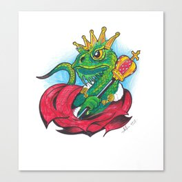 Funny drawing - Lizard King Canvas Print